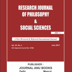 Research Journal of Philosophy & Social Sciences _New Title